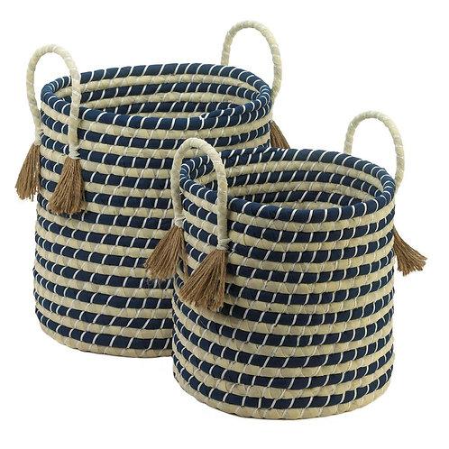 Braided Baskets With Tassels