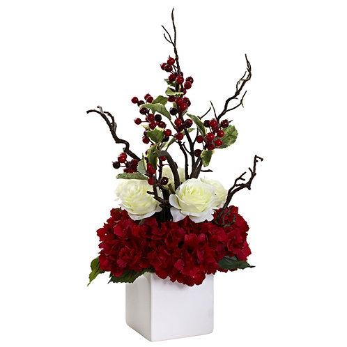 Holiday Cheers Arrangement with Vase