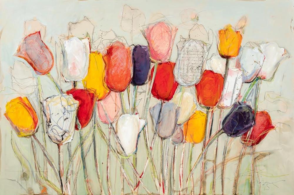 Tulips canvas artwork by Deb Sheldon