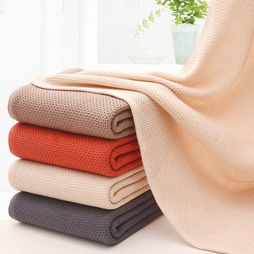 Honeycomb Absorbent Bath Towels Cotton Jacquard