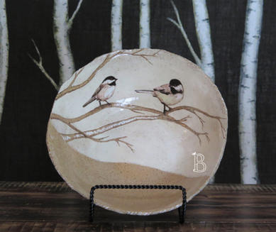 Birds on Birch Bowl