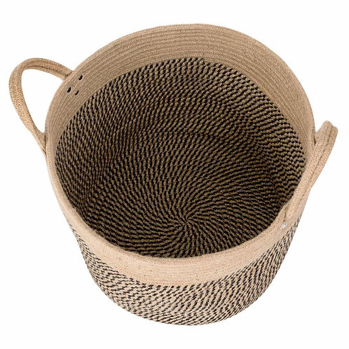 Woven Towel Basket With Handles