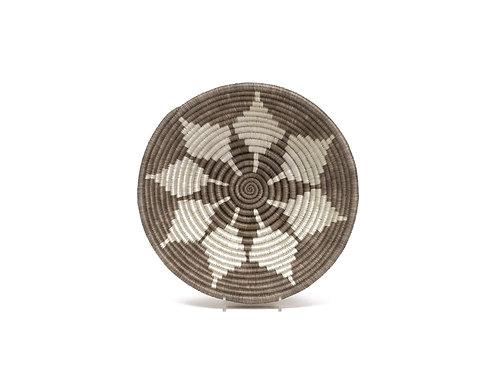 "10"" Medium Light Taupe Round Basket"