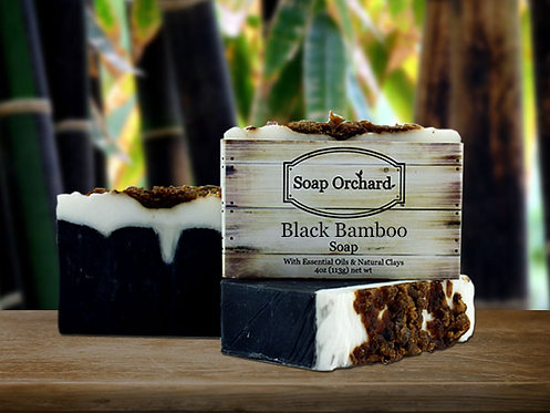 Black Bamboo Soap Bar