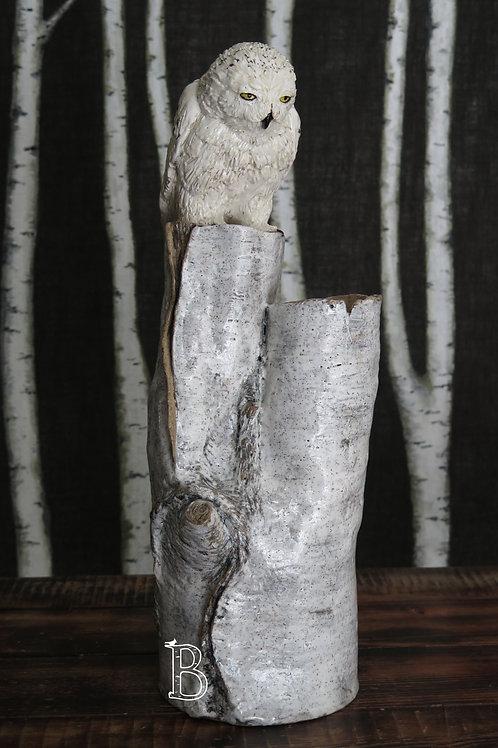 Snowy Owl Vase