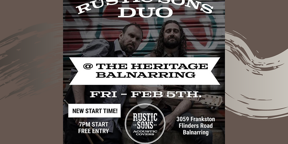 The Heritage - Rustic Sons Duo