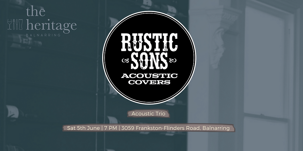 The Heritage - Rustic Sons Trio
