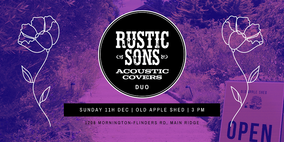 Old Apple Shed - Rustic Sons Duo