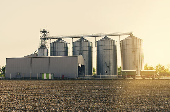 Agricultural silos on sunset .jpg