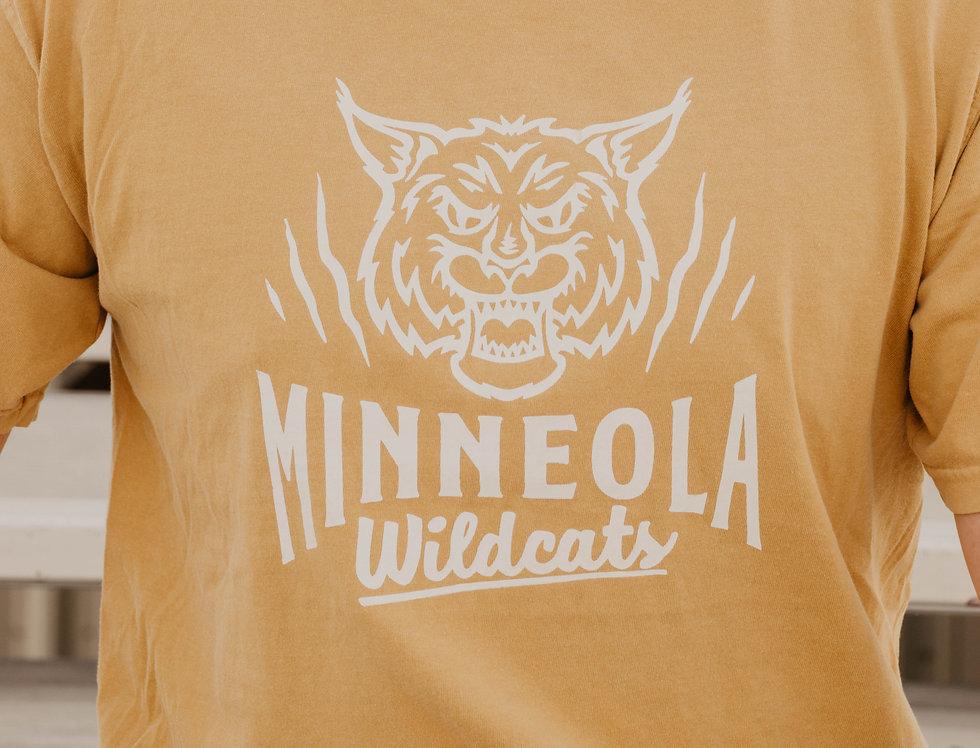 MINNEOLA TEE IN GOLD (CREWNECK OPTION))