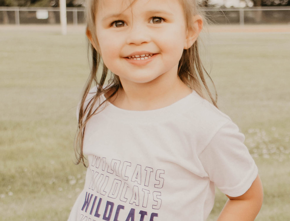 YOUTH WILDCATS TEE & ONESIE IN WHITE