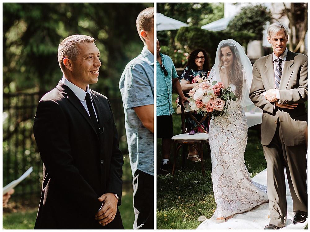 Backyard Micro Wedding Ceremony, Sara Fitz Co