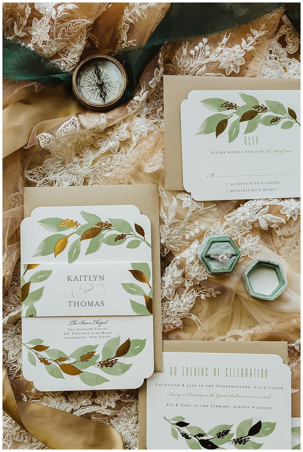 Sage Green Wedding Invitation Suite