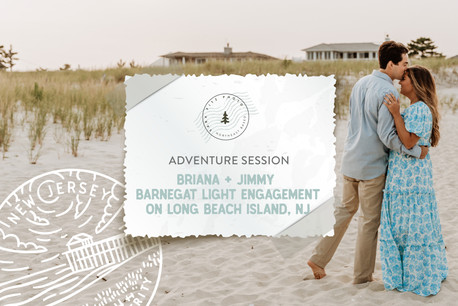 Barnegat Light Adventure Engagement on Long Beach Island, NJ