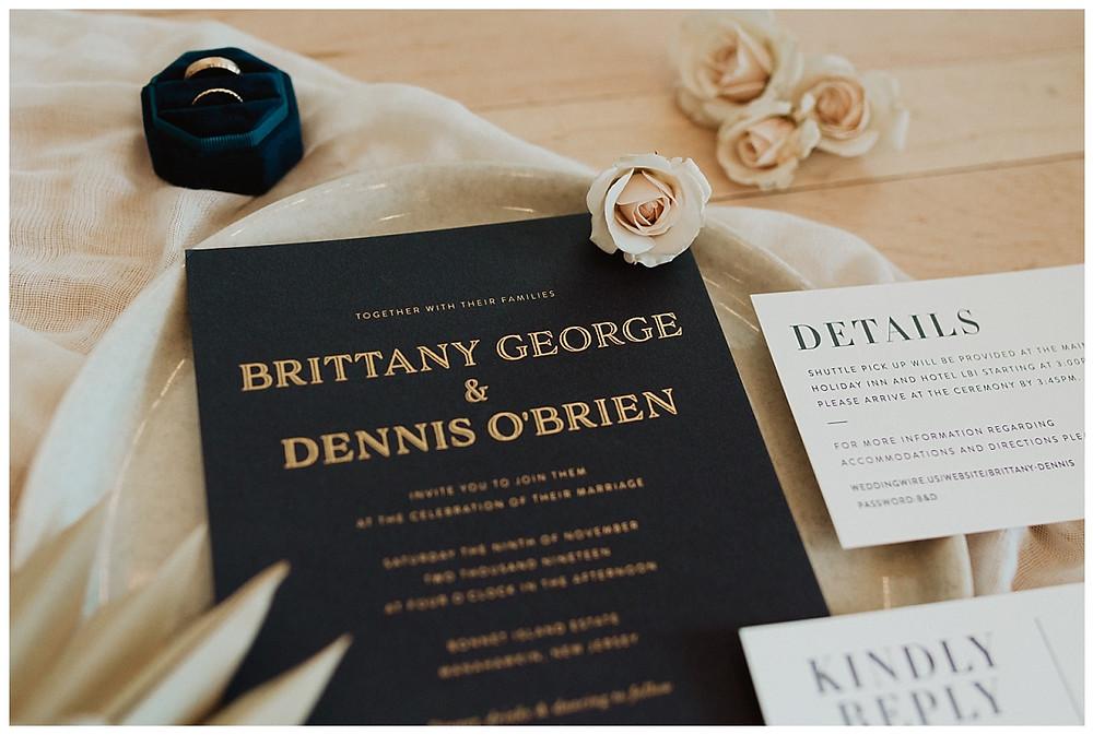 Wedding Stationary and Invitation Details