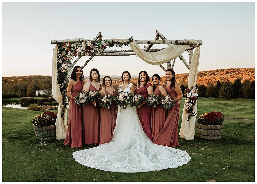 Mountaintop Bridal Party Portraits