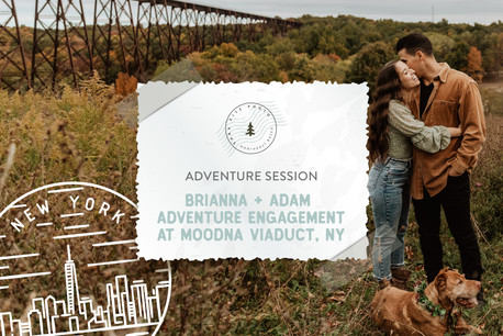 Autumn Adventure Engagement at Moodna Viaduct in NY