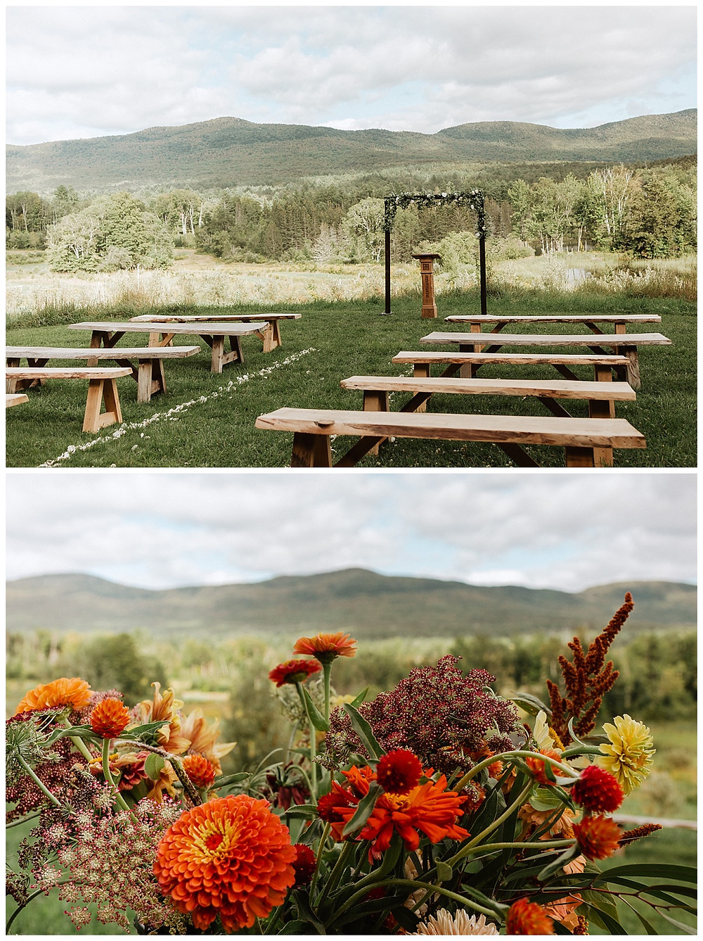 Vermont Mountain Wedding Ceremony