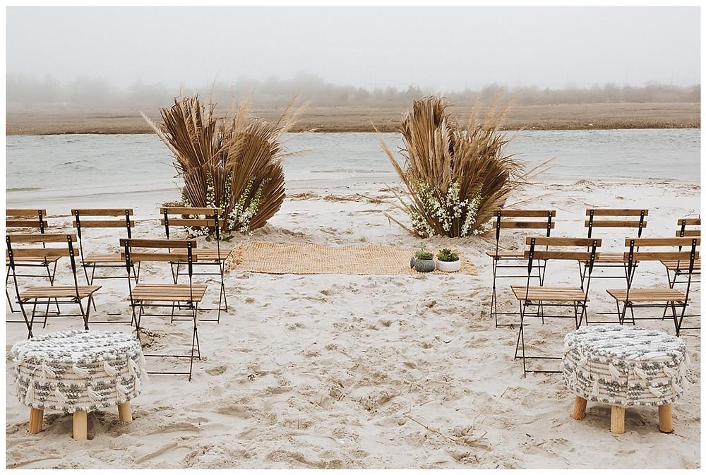 Boho Beach Wedding Ceremony Decor