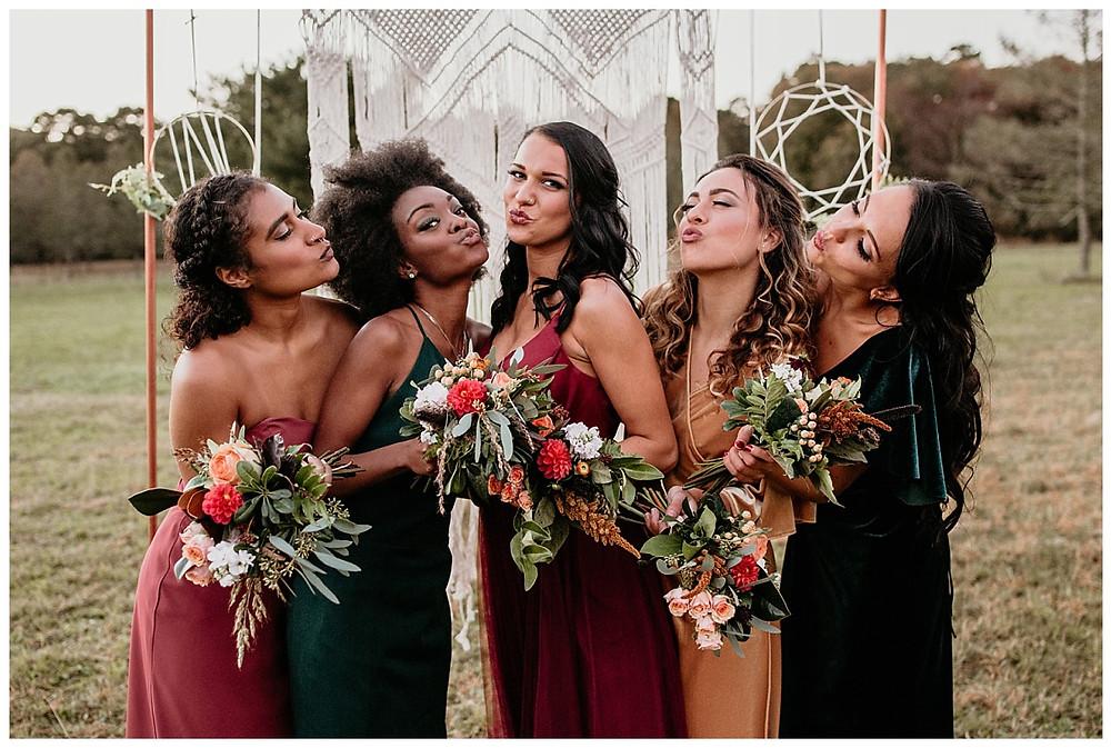Boho Bridesmaid in Jewel Tones