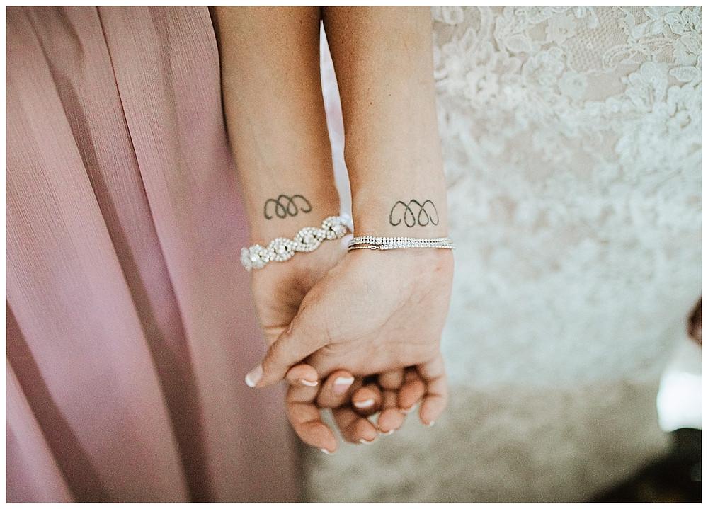 Bride and Bridesmaid Matching Tattoos