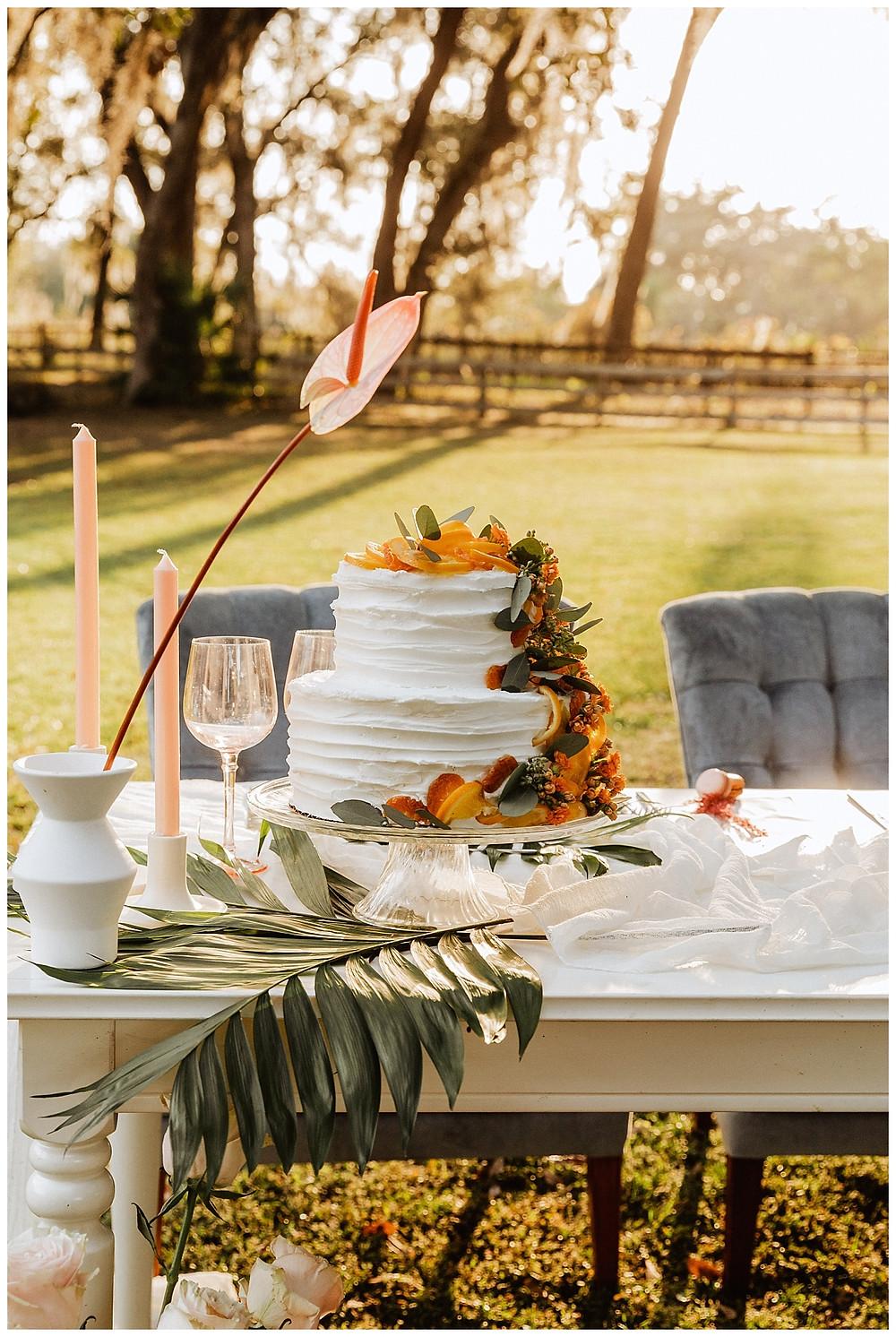 Citrus Tropical Wedding Cake