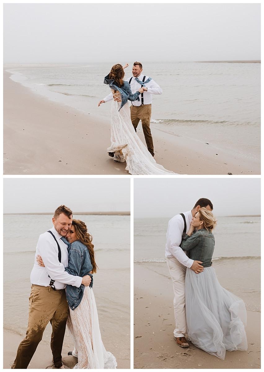 Beach Bride & Groom Portraits
