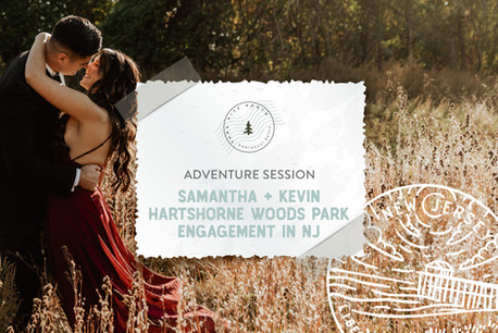 Hartshorne Woods Park Adventure Engagement in Highlands, NJ