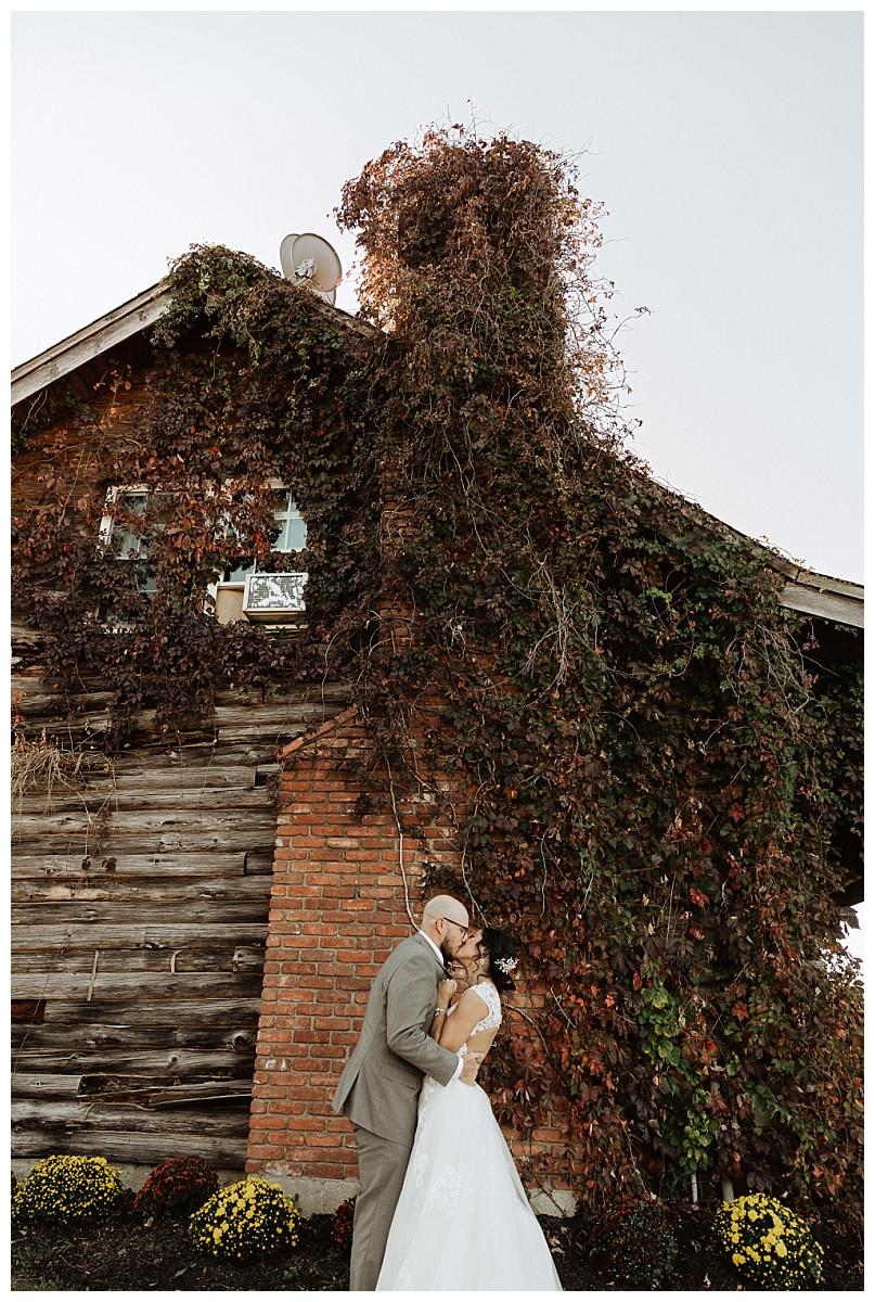 Rustic Log Cabin Bride & Groom Portraits