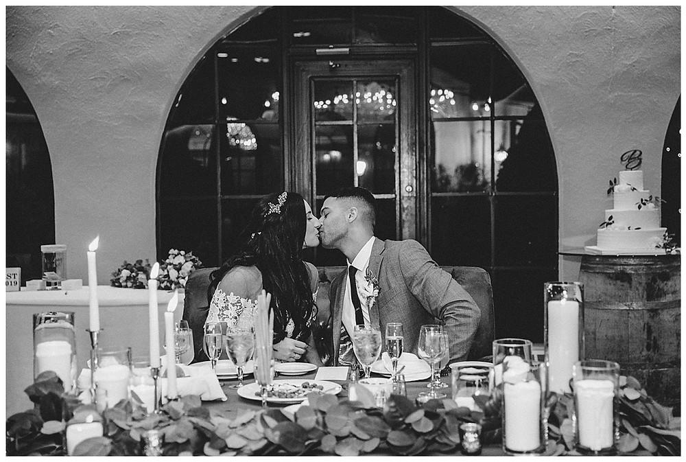 Bride & Groom Reception Kiss