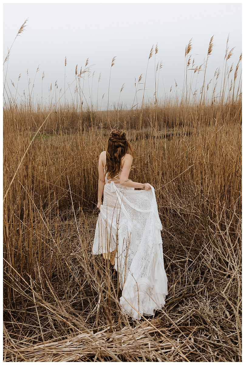 Grassy Meadow Bridal Portraits