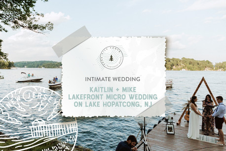 Lakefront Micro Wedding on Lake Hopatcong, New Jersey