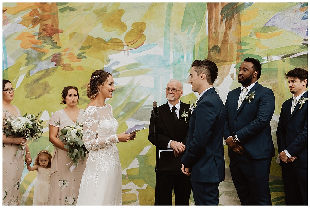 Exchanging of Vows at the Fleisher Art Memorial Wedding
