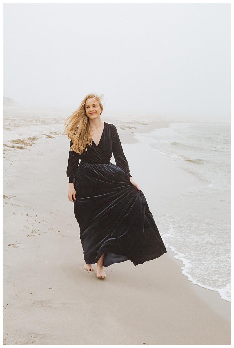 Black Velvet Bridesmaid Dress