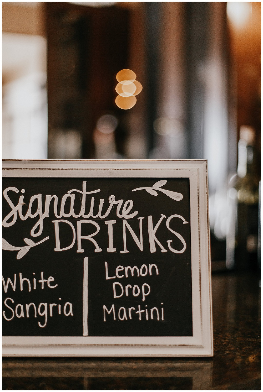 Bar Signature Drinks Sign