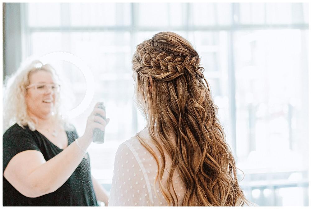 Bridal Hair Getting Ready