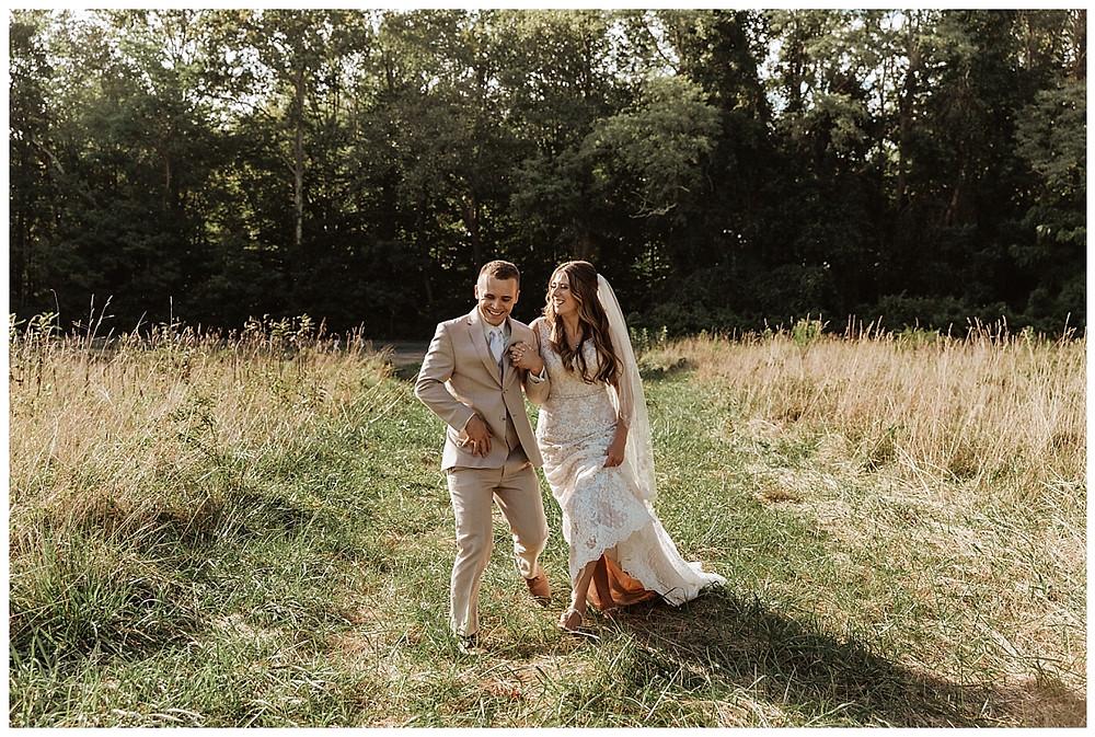Meadow Bride & Groom Portraits