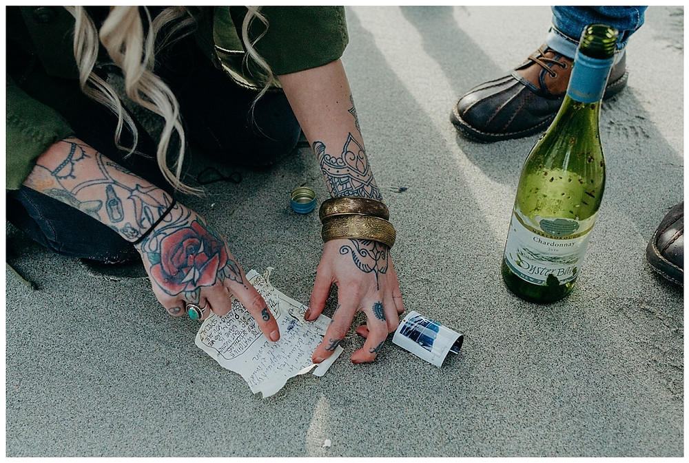 Finding a Message in a Bottle on the Beach