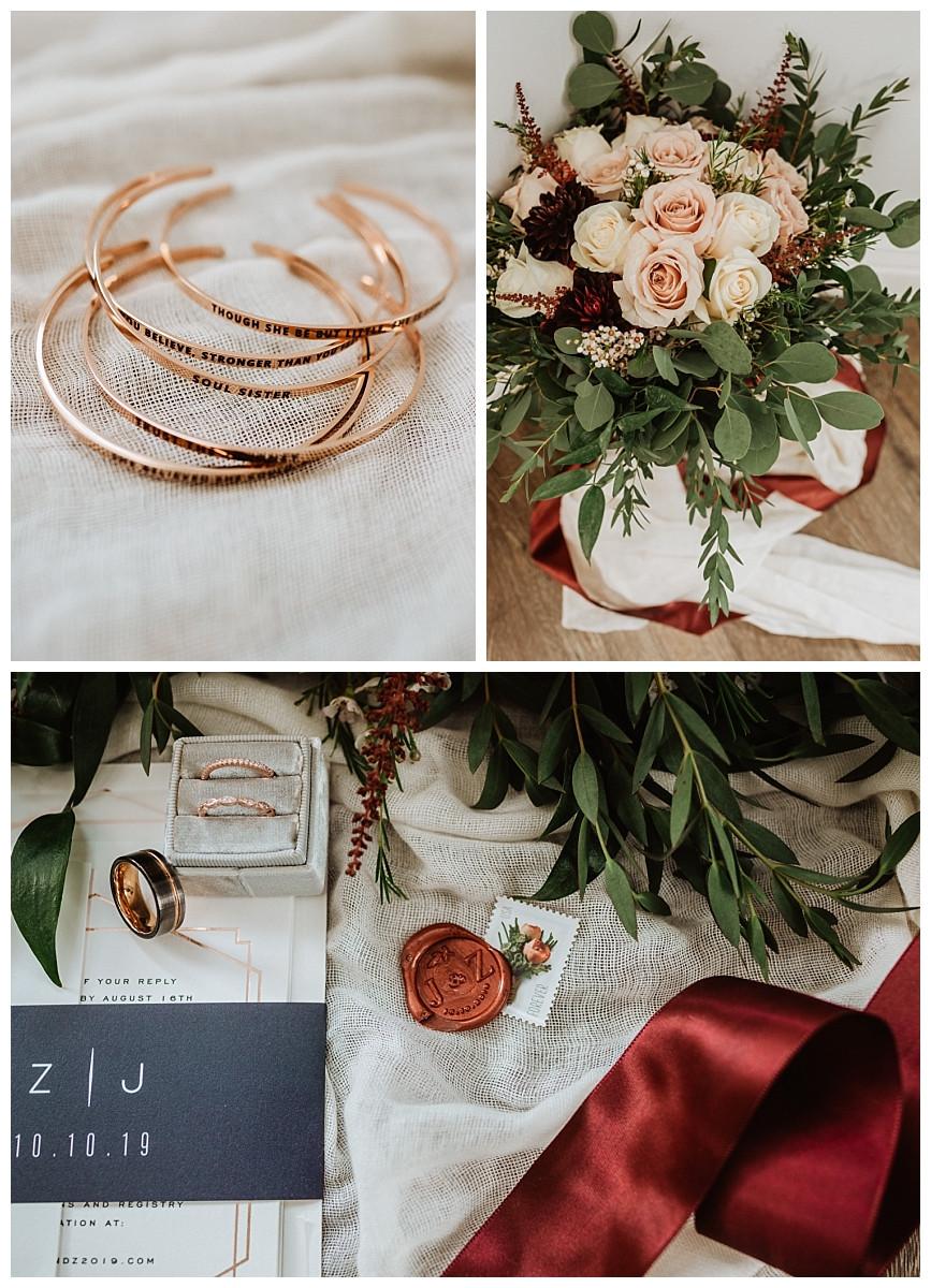 Bridal Details and Bouquet