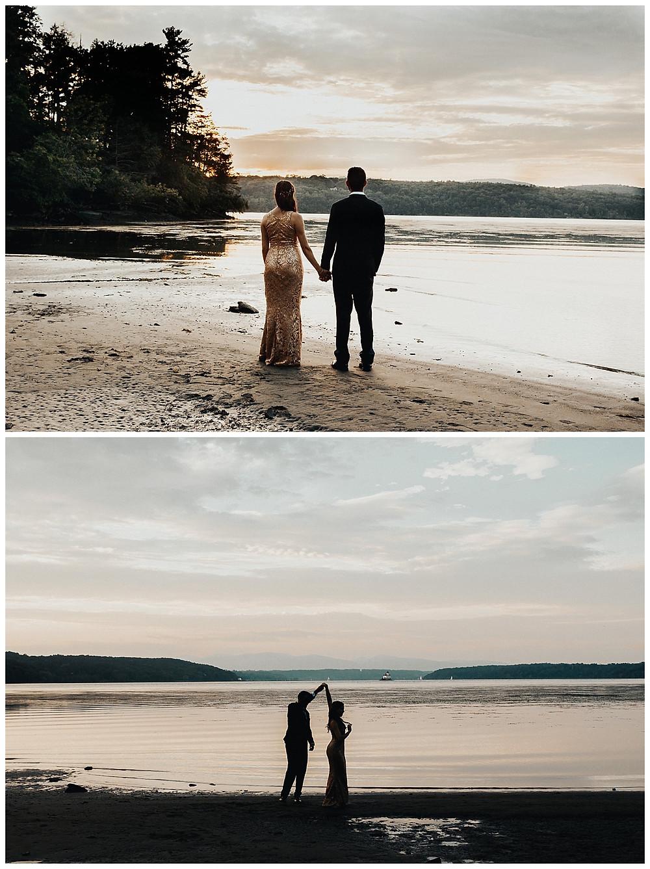 Lakeside Sunset Bride & Groom Portraits