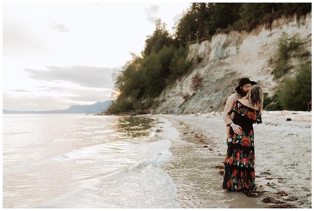 Beach Engagement Photos in British Columbia
