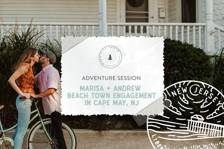 Historic Beach Town Engagement Session in Cape May, NJ