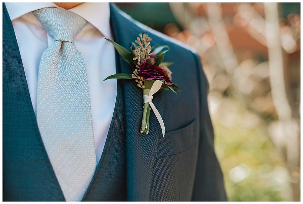 Groom Details with Boutonniere