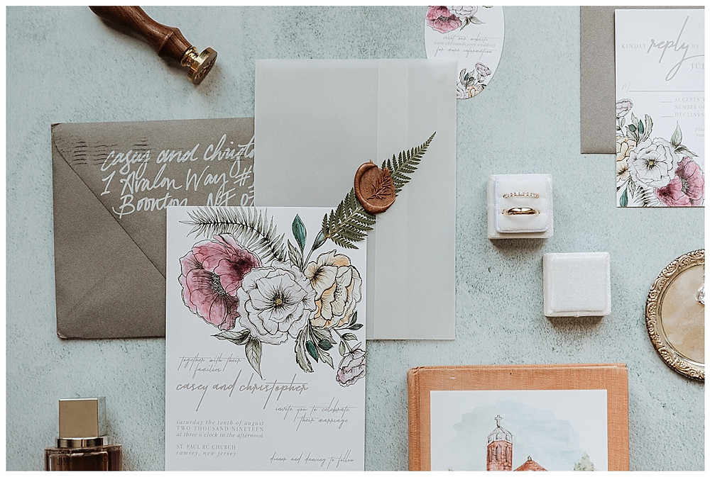 Floral Wedding Stationary Invitation Suite