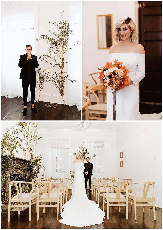 Intimate Wedding Ceremony at Vaux Studios Philadelphia