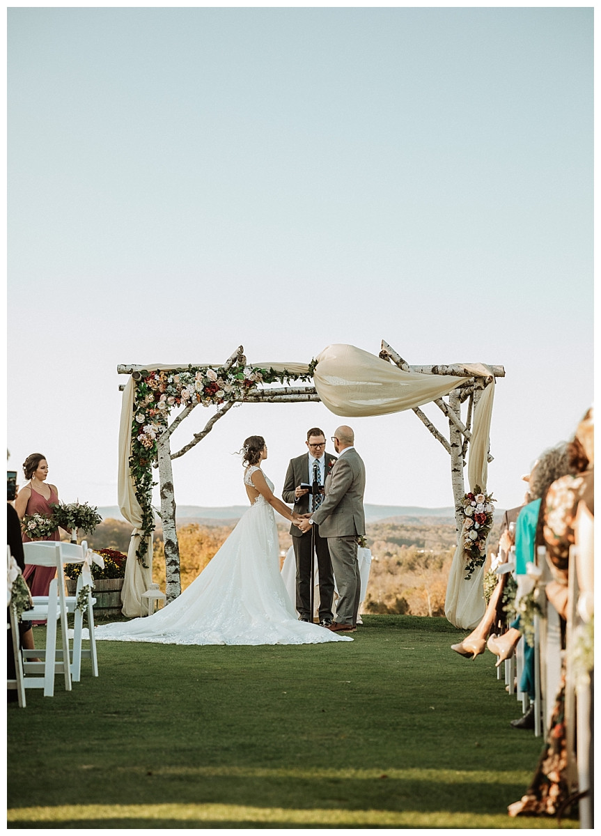 Outdoor Mountaintop Wedding Ceremony
