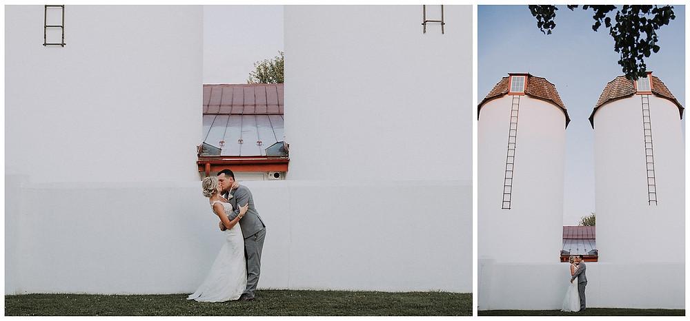 Bride & Groom Silos Portraits