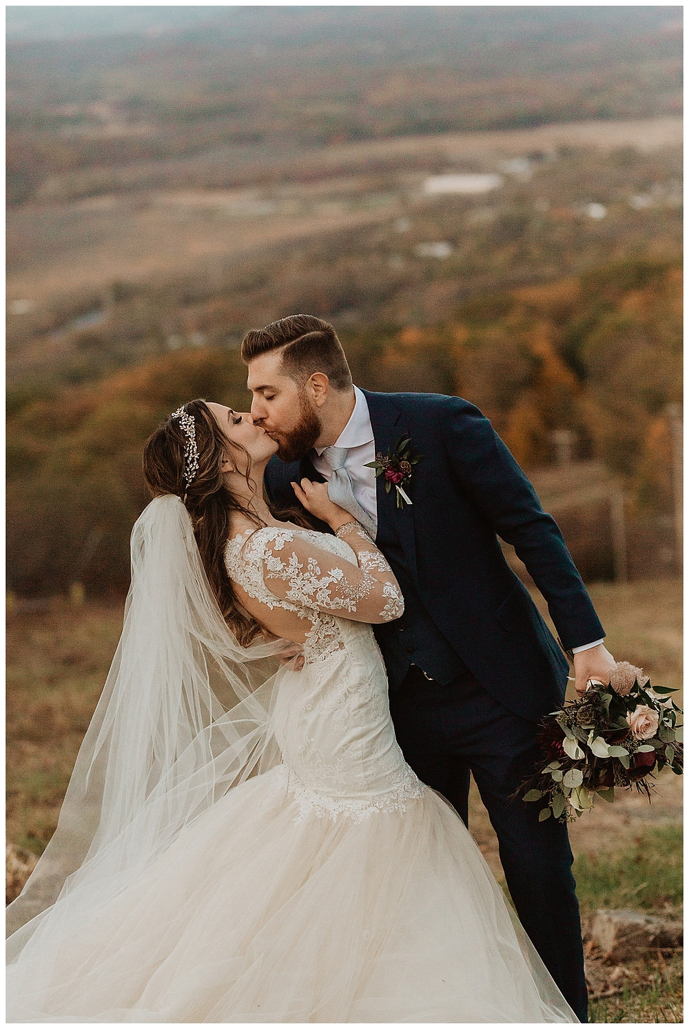 Mountaintop Bride and Groom Portraits