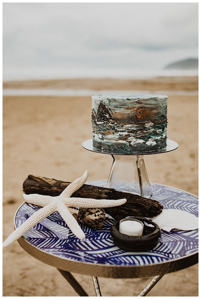 Coastal Ocean Inspired Wedding Cake