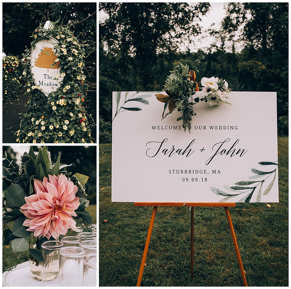 Whimsical Farm Wedding Florals and Signage